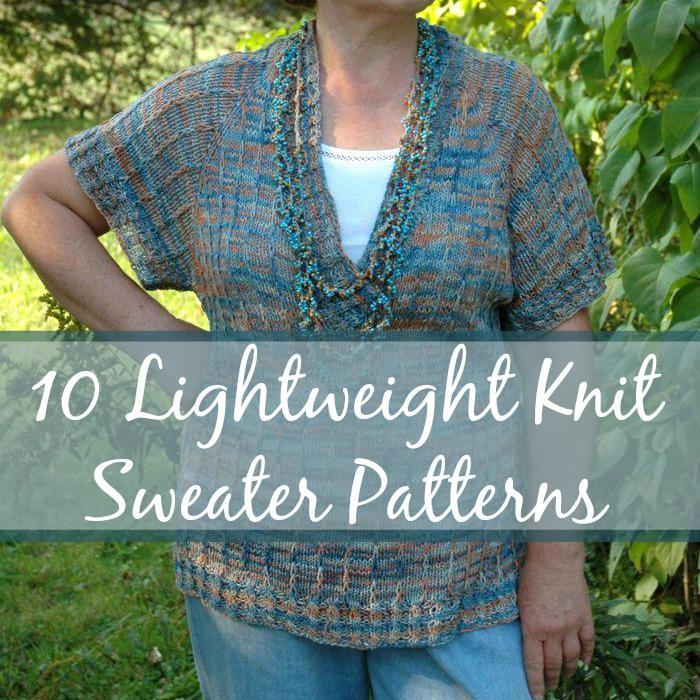 10 Lightweight Knit Sweater Patterns AllFreeKnitting.com