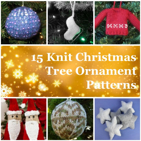 Easy Knitting Projects For Christmas : Knit christmas tree ornament patterns allfreeknitting