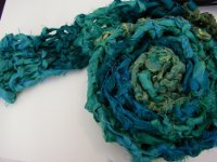 45 Minute Recycled Sari Ribbon Scarf