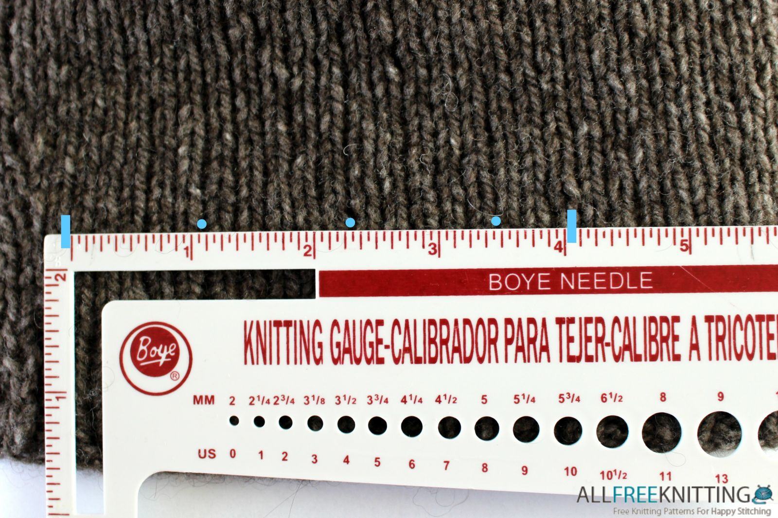 Knitting Number Of Stitches Per Inch : Knitting Basics: What is Gauge? AllFreeKnitting.com