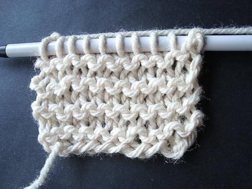 Knitting Increasing Stitches At End Of Row : Knitting Tutorial: Knit Stitch AllFreeKnitting.com