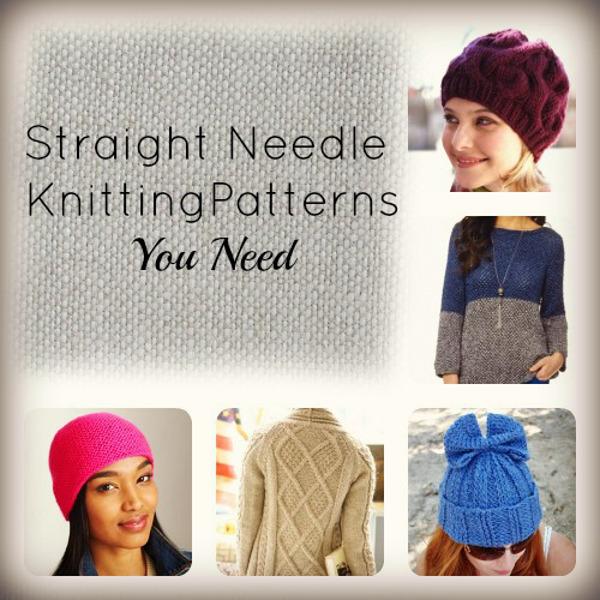 26 Straight Needle Knitting Patterns You Need AllFreeKnitting.com