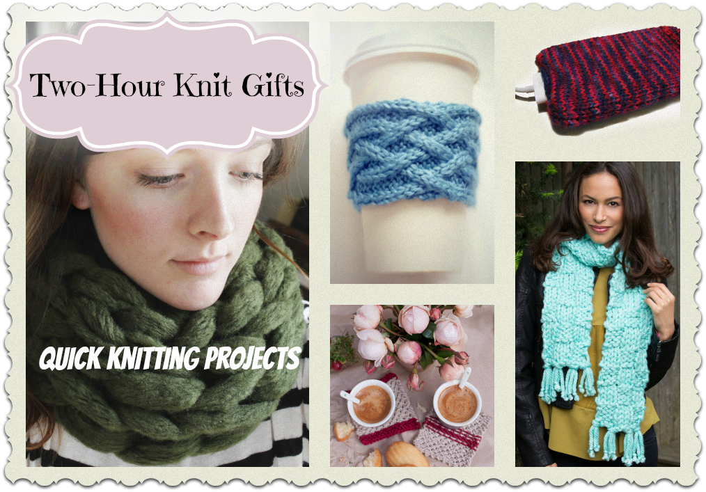 Easy Knitting Projects For Gifts : Two hour knit gifts quick knitting projects