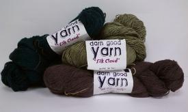 Silk Cloud Yarn from Darn Good  Yarn