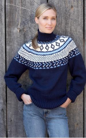 traditional fair isle yoke pullover