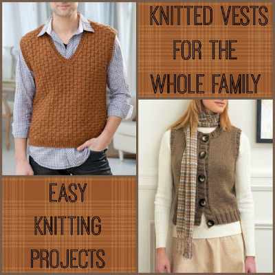 Easy Sweater Vest Knitting Pattern Full Zip Sweater