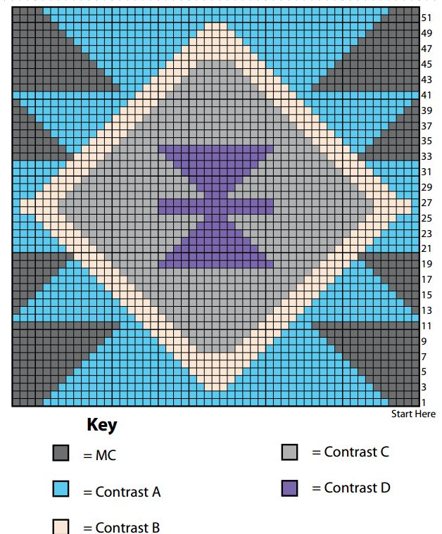Aztec Inspired Knit Pillow | AllFreeKnitting.com