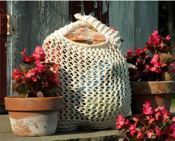 Knitting Pattern Grocery Bag : Pretty and Practical Knitted Bag Patterns ...